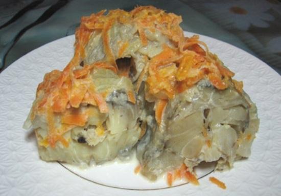 Рецепт диетических блюд из минтая