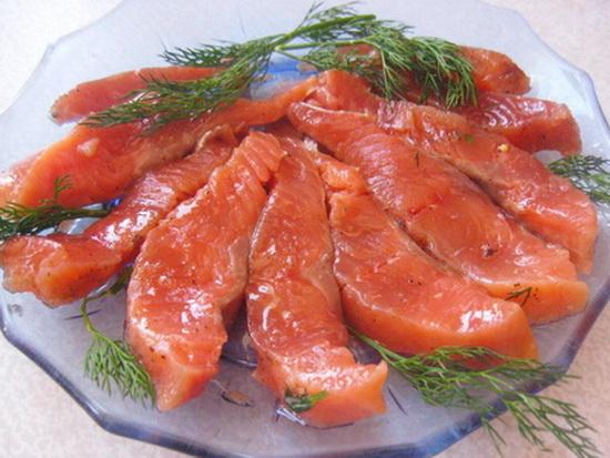 Горбуша слабосоленая рецепт с фото