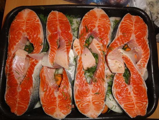 Рыба семга в духовке - рецепты вкусные и простые 4