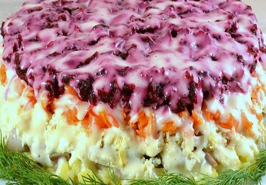 Салат селедка под шубой слои по порядку