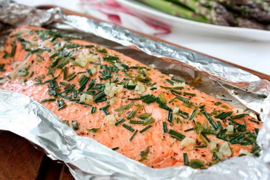Семга в фольге в духовке - готовим рыбу с приправами 4
