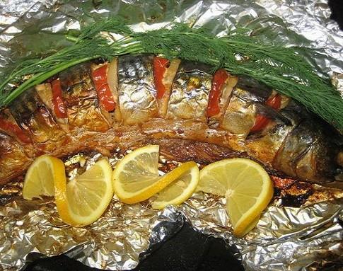 Вкусная скумбрия в духовке — рецепты с фото