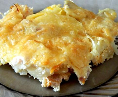 Пикша с картофелем в духовке – рецепты с фото