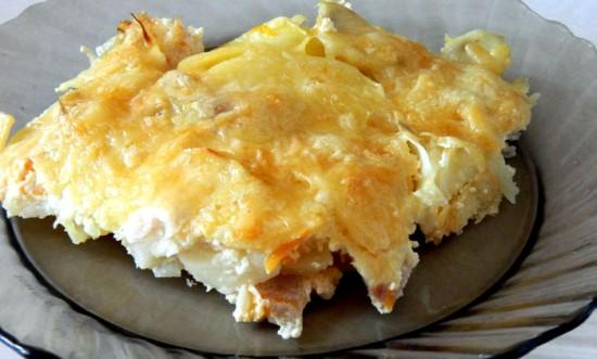 Пикша с картошкой в духовке - рецепты с фото3