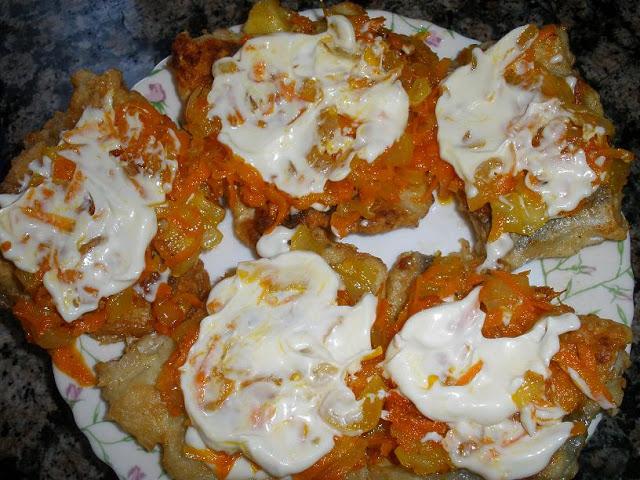 пикша в духовке рецепты с фото с луком и морковью 1