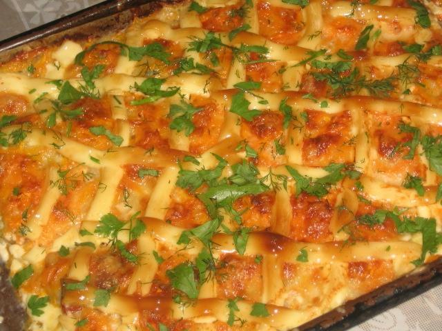 пикша в духовке рецепты с фото с луком и морковью 2