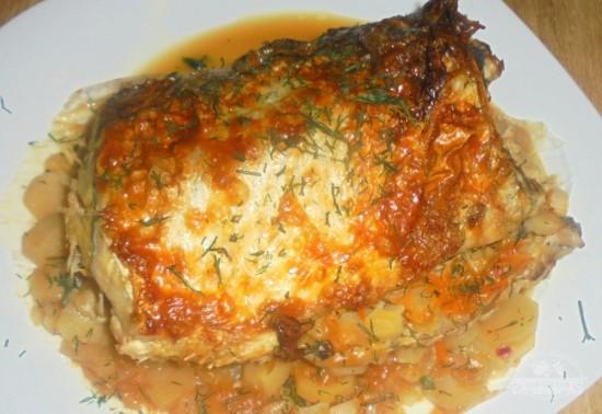 рыба пикша в духовке рецепты с фото4