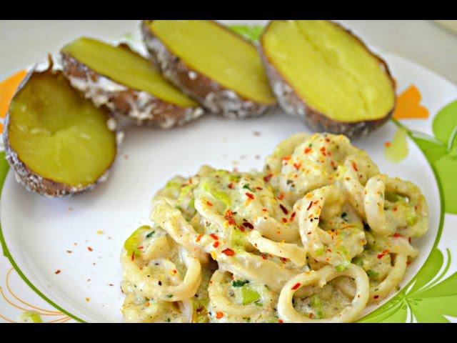 как приготовить кальмары вкусно на сковороде со сметаной 3
