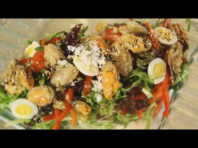 салат из маринованных мидий 2