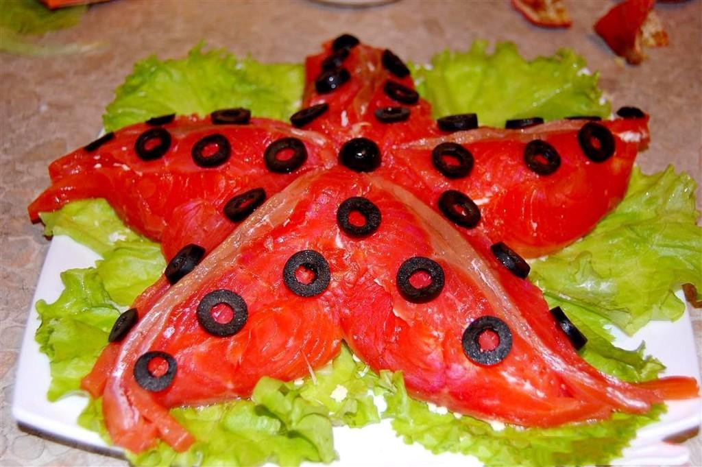 салат морская звезда с кальмарами рецепт с фото 1