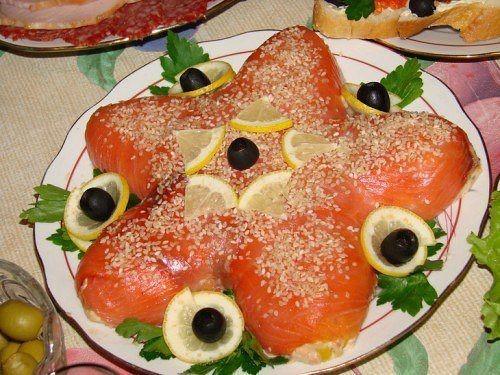 салат морская звезда с кальмарами рецепт с фото 2
