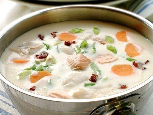 сливочный суп с семгой рецепт с фото 3